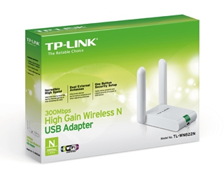 TARJETA USB WIFI TP-LINK TL-WN822N 300mbps 2 ANTENAS